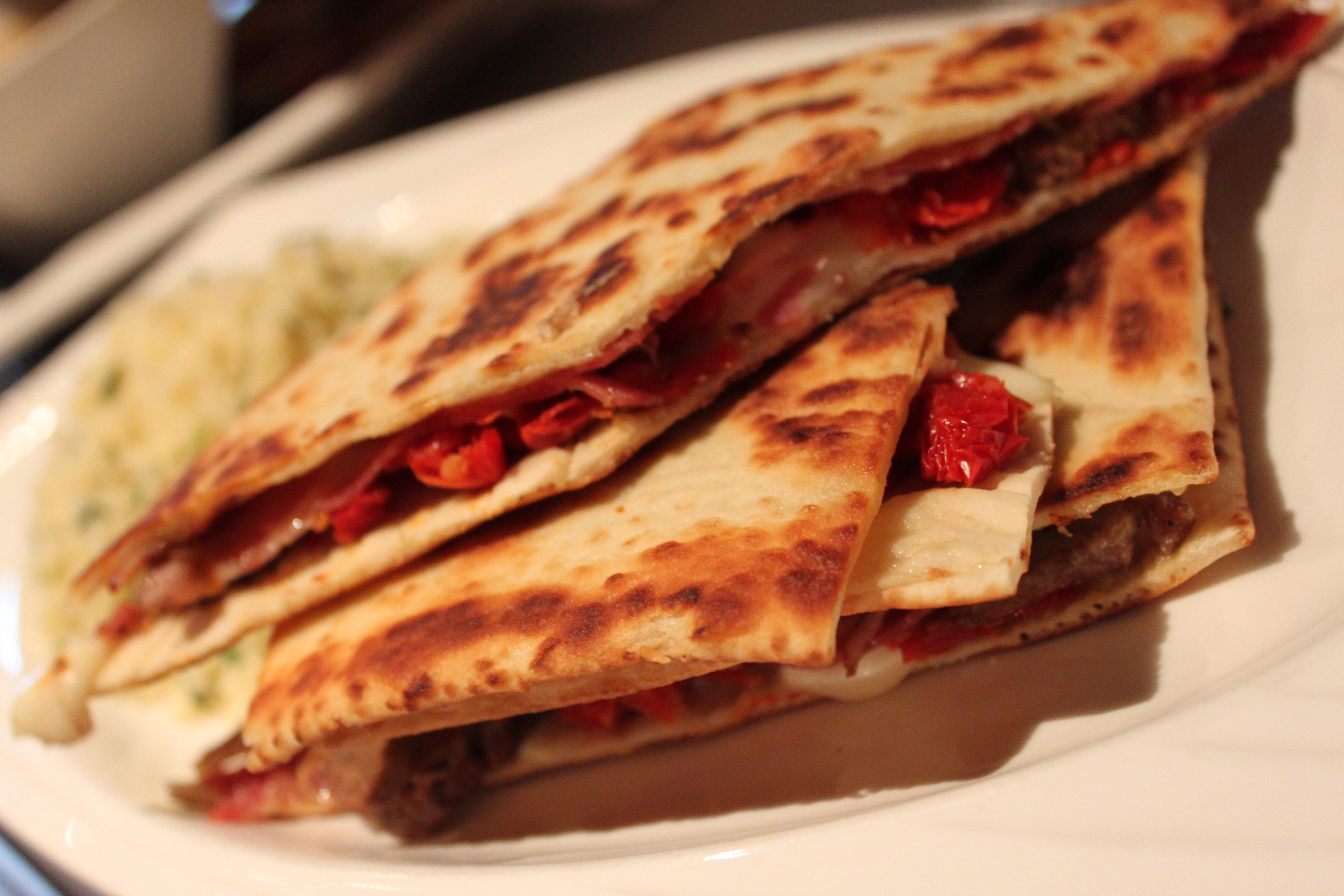 Spicy Italian salami and house smoked sausage with fresh mozzarella ...